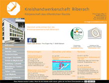 Tablet Preview of kreishandwerkerschaft-bc.de